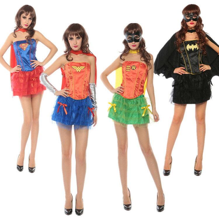萬聖節神力女超人蝙蝠俠Cosplay蓬蓬裙角色扮演夜店halloween服裝