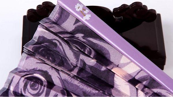 日式真絲櫻花 工藝和風絹扇13