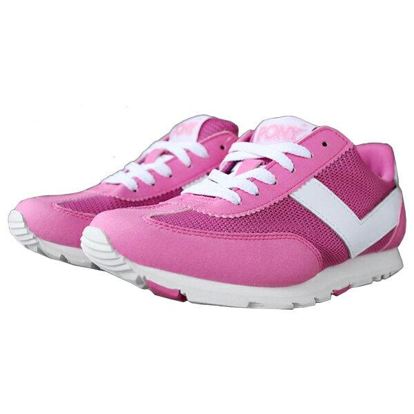 《限時特價799元》Shoestw【62W1SO63PK】PONY 慢跑鞋 休閒鞋 網布 透氣 粉紅白 女生 0