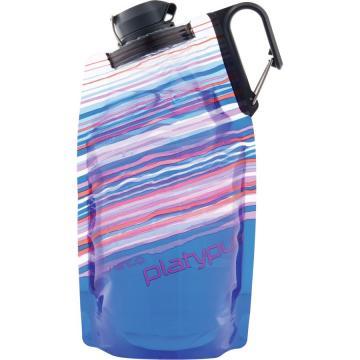 【【蘋果戶外】】platypus09897藍棱格DuoLock軟式握把水瓶750ml摺疊水袋蓄水袋水壺登山露營自行車