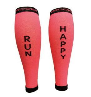 BROOKS運動彈性壓縮小腿套(粉紅)壓力小腿套BK741073616【胖媛的店】