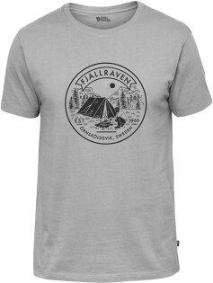 Fjallraven小狐狸有-機棉短袖T恤棉T旅遊LagerplatsT-Shirt男81950020營地灰
