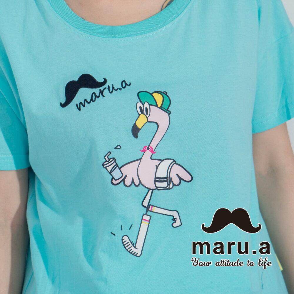 【maru.a】手繪紅鶴印花T-shirt7321237 5