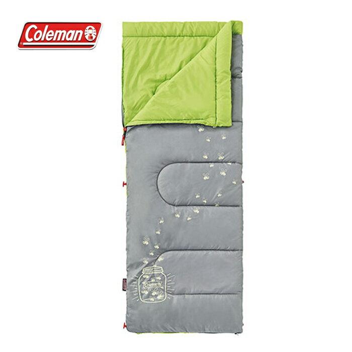 【露營趣】中和安坑 Coleman CM-22259 夜光型萊姆綠兒童睡袋/C7 纖維睡袋 中空纖維 全開信封式