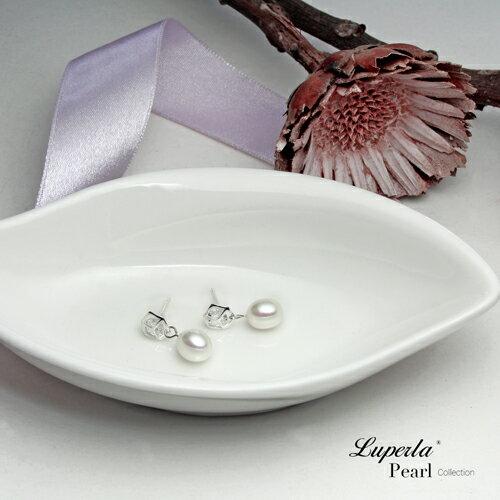 大東山珠寶 經典時尚 天然淡水珍珠純銀耳環 2
