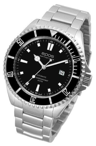 epos 愛寶時 3396.131.20.15.30 專業潛水機械腕錶/黑面44mm
