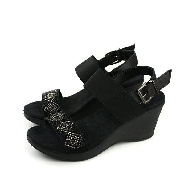 IMAC涼鞋義大利製厚底黑色水鑽女鞋107951.1400.011no017