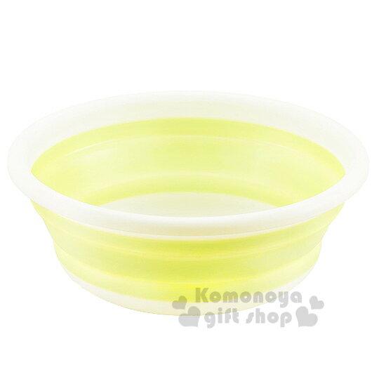 〔小禮堂〕折疊洗菜籃《白.綠.盒裝.33cm》容量約6L