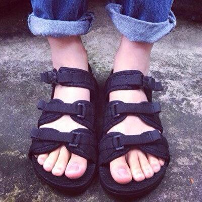涼鞋 香港Zipper潮人ulzzang百搭魔鬼氈涼鞋 情侶鞋【S898】☆雙兒網☆ 1