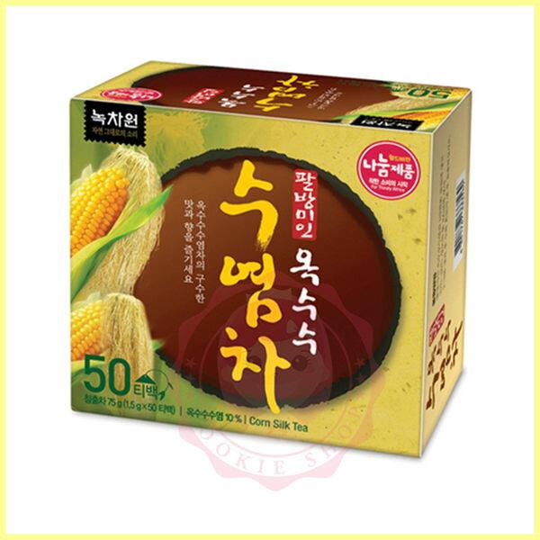 韓國NOKCHAWON綠茶園韓式玉米鬚茶(1.5g*50包盒)沖泡飲品推薦【庫奇小舖】