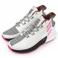 Adidas愛迪達,adidas愛迪達鞋子推薦到【ADIDAS】D Rose 9 籃球鞋 運動鞋 白 粉 黑 男鞋 -BB7658
