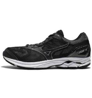 美津濃MIZUNO男跑鞋WAVERIDER21(黑)一般楦雲波浪款路跑鞋J1GC180309【胖媛的店】