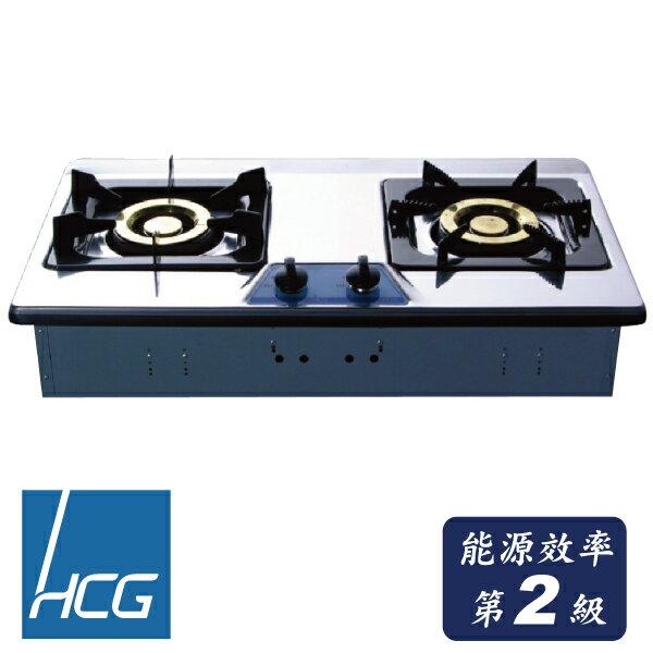 和成HCG 不銹鋼檯面式二口瓦斯爐天然 GS203SQ NG1 合格瓦斯承裝業 全省 (離島及偏遠鄉鎮除外)
