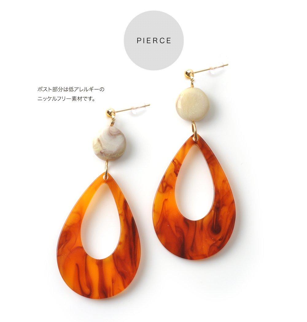 日本CREAM DOT  /  復古染色琥珀耳環  /  qc0210  /  日本必買 日本樂天直送(700) 4