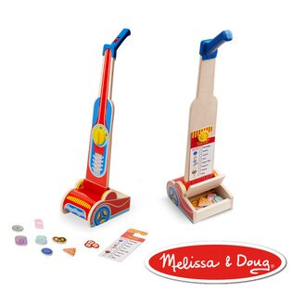美國瑪莉莎Melissa&Doug角色扮演-木製吸塵器【寶貝樂園】