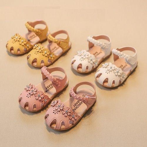 女童涼鞋PU皮包頭小童涼鞋娃娃鞋童鞋(13.5-15.5CM)KL905好娃娃