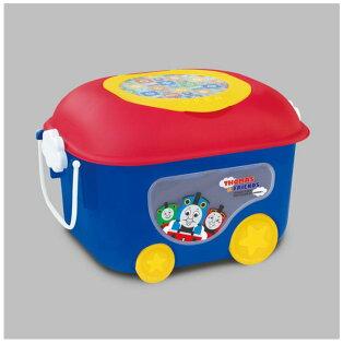 X射線【C311952】湯瑪士Thomas滾輪置物箱,附蓋塑膠收納箱兒童玩具箱置物箱收納箱滾輪櫃防塵箱