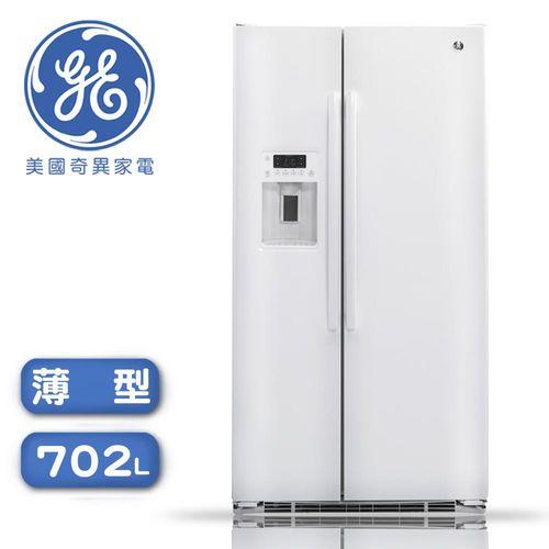 <br/><br/>  【零利率】GE奇異  702L薄型對開冰箱 GZS22DGWW※熱線07-7428010<br/><br/>
