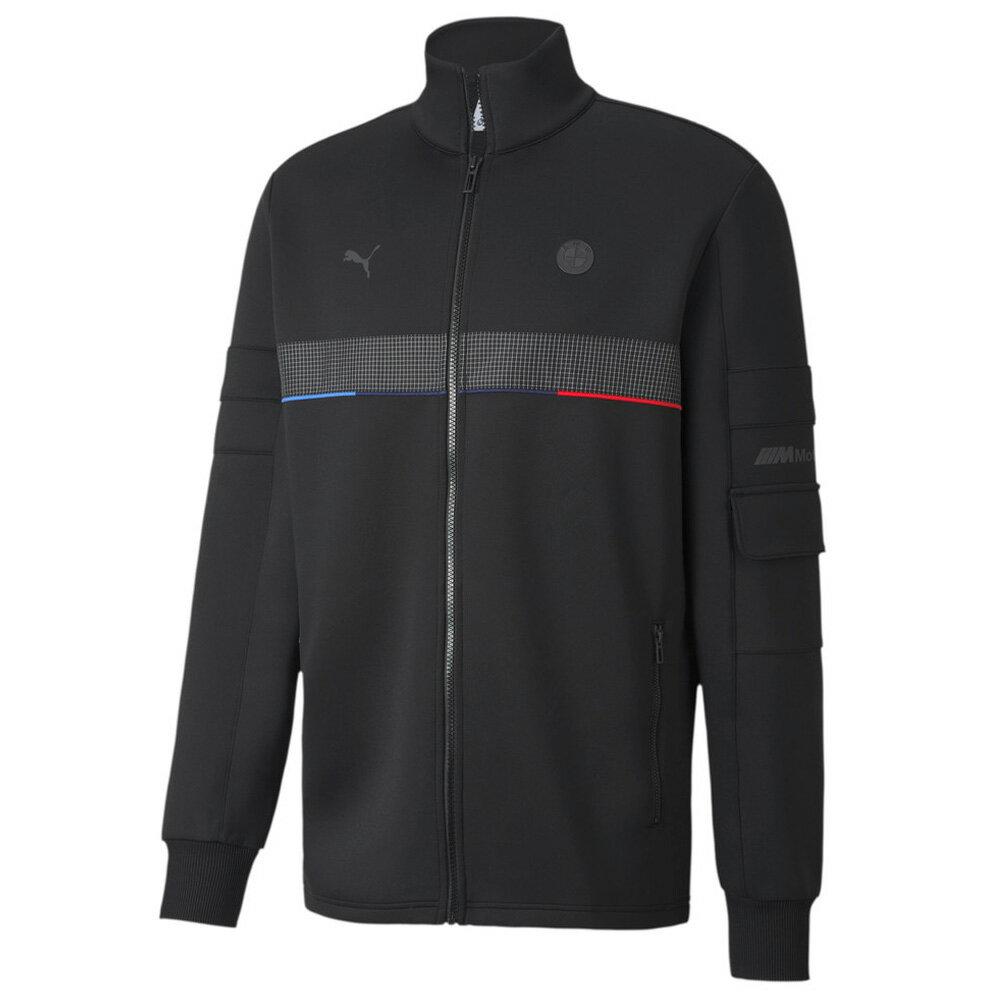 【領券最高折$300】PUMA BMW JKT 男裝 外套 立領 休閒 健身 慢跑 聯名 滾邊 黑 歐規【運動世界】59798401