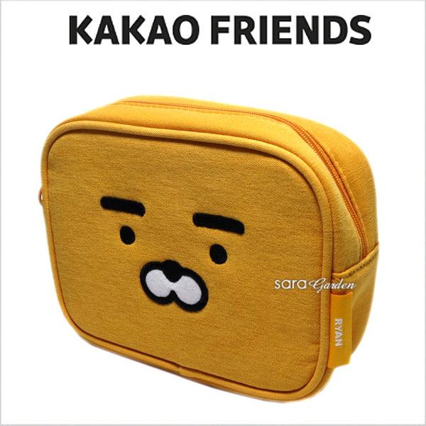 正版韓國KAKAOFRIENDSRYAN零錢包化妝包收納包鉛筆盒筆袋禮物