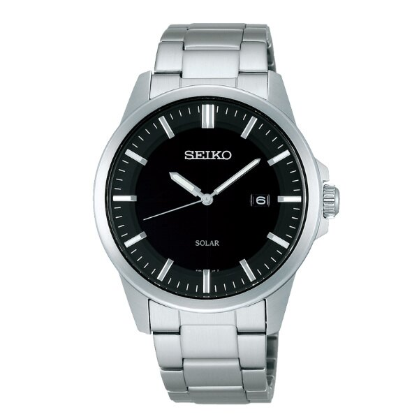 Seiko Spirit V147~0AV0D SBPN091J 休閒簡約太陽能腕錶  黑
