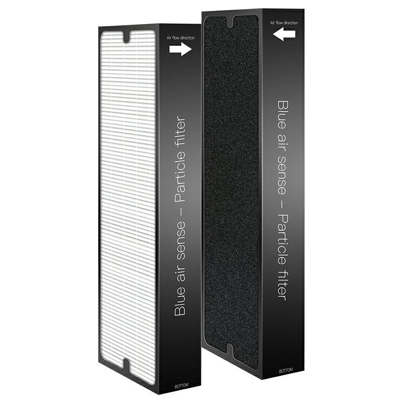 適用【Blueair 體感操控 超靜音SENSE+空氣清淨機】加強Smokestop活性碳HEPA濾網2入組 1