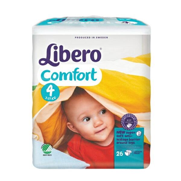 【Libero麗貝樂】黏貼式嬰兒紙尿褲(L4號)(26P包)