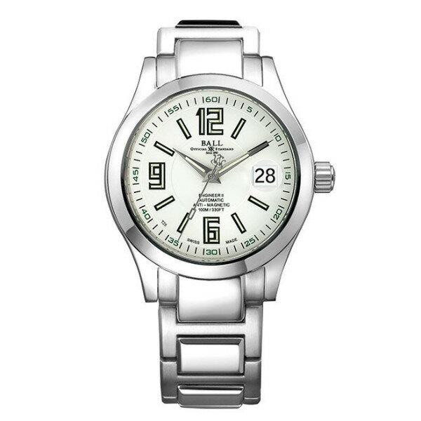 BALL 波爾錶NM1020C-S4-WH Engineer II工程師經典三針腕錶/白面40mm