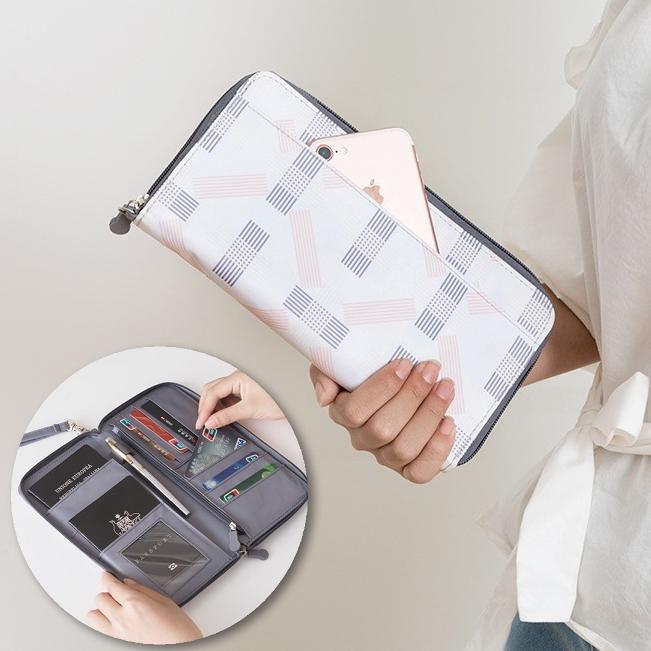 雅緻系列護照夾 印花 護照包 票卡 多功能 防潑水 便攜 旅行 收納 加厚【RB479】