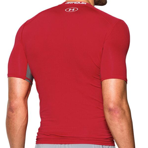《UA出清一件$990》Shoestw【1271334-600】UNDER ARMOUR UA服飾 緊身衣 短袖 運動束衣 CoolSwitch 強力伸縮型 排汗透氣 紅灰 男生 1