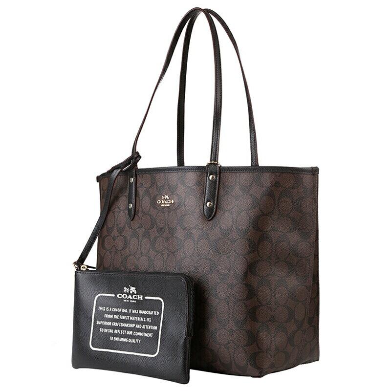 COACH   F36658 女士女包PVC配皮單肩手提包托特包TOTE大號 4