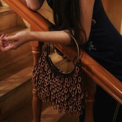 手提包木珠子晚宴包-優雅復古時尚百搭女包包73sn8【獨家進口】【米蘭精品】