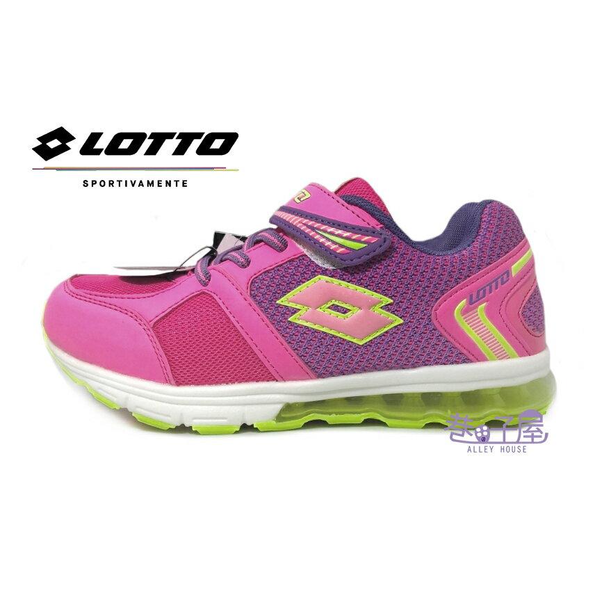【巷子屋】義大利第一品牌-LOTTO 女童極光編織氣墊夜光運動慢跑鞋 [5803] 粉 超值價$498