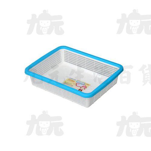 【九元生活百貨】聯府 P2-0090 400雙色長方籃 P20090
