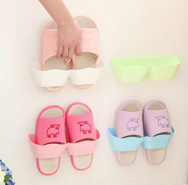 波浪型鞋架 壁掛式立體鞋架 (單入不挑色)