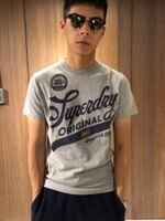 Superdry極度乾燥-男T恤推薦到美國百分百【全新真品】Superdry 極度乾燥 T恤 上衣 T-shirt 短袖 短T 復古LOGO 砂礫灰 J089就在美國百分百推薦Superdry極度乾燥-男T恤