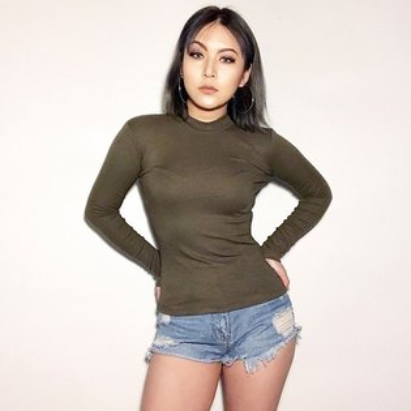 FINDSENSEG6韓國時尚復古薄款長袖打底衫T恤女裝純色圓領上衣