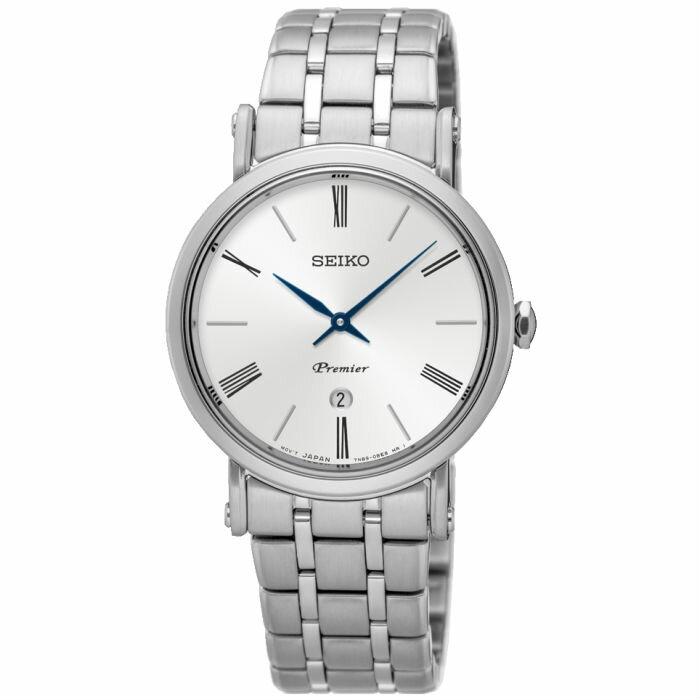 大高雄鐘錶城 Seiko 精工錶 7N89-0AY0S(SXB429J1) 纖薄羅馬紳士腕錶/ 白面30.5mm