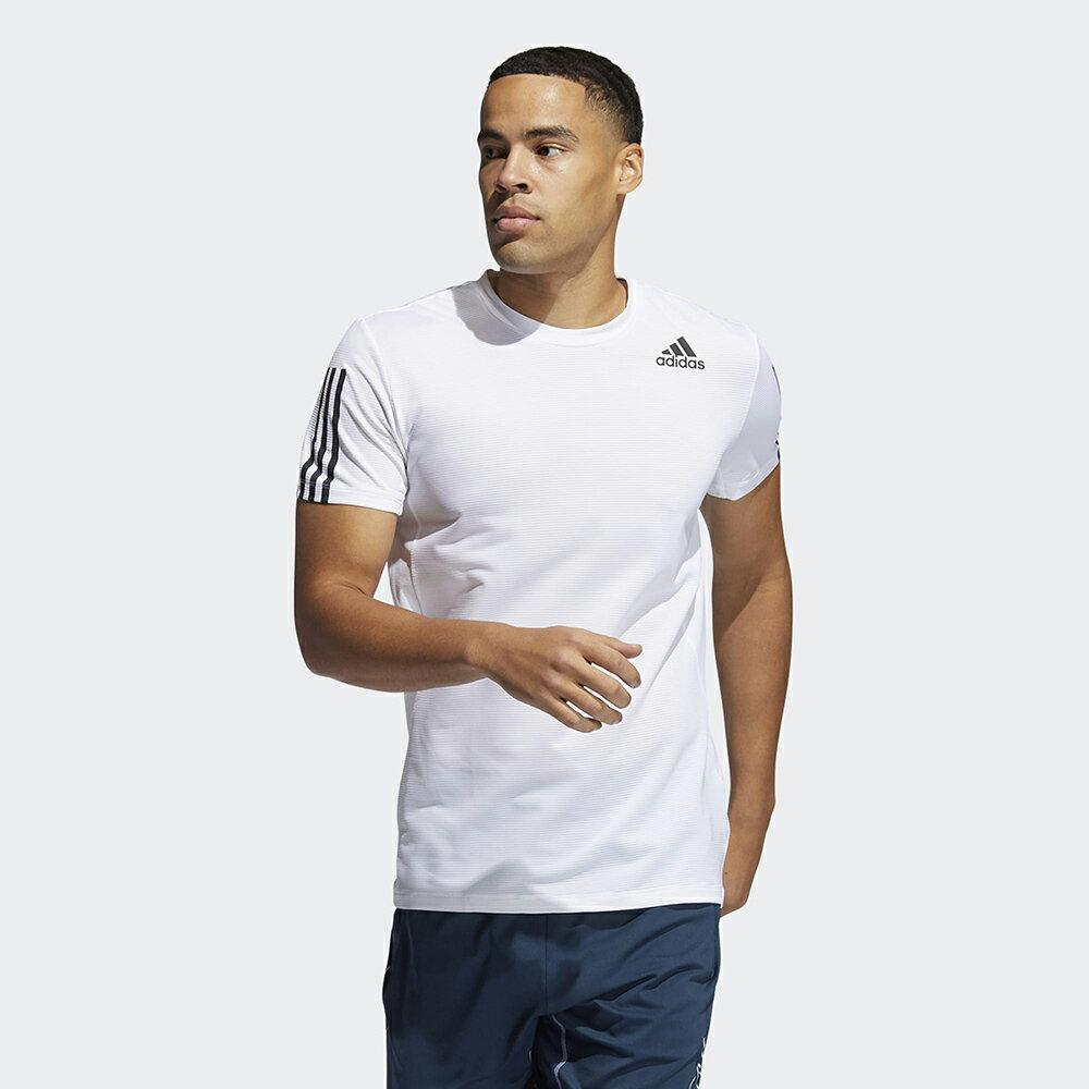 【全館滿額88折】ADIDAS AERO3S TEE PB 男裝 短袖 慢跑 訓練 吸濕 排汗 修身 白【運動世界】GQ2164