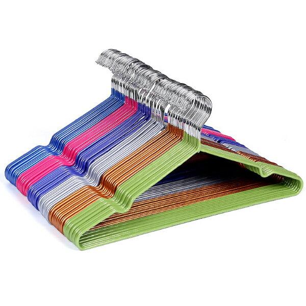 【10入組】衣架 防滑衣架 帶凹槽 加粗 乾濕兩用 不鏽鋼衣架  晾衣架 曬衣架 顏色隨機 1