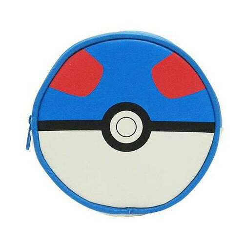 超級球款 藍色【日本進口】神奇寶貝 寶貝球 零錢包 收納包 吊飾 口袋怪獸 精靈寶可夢 - 150762