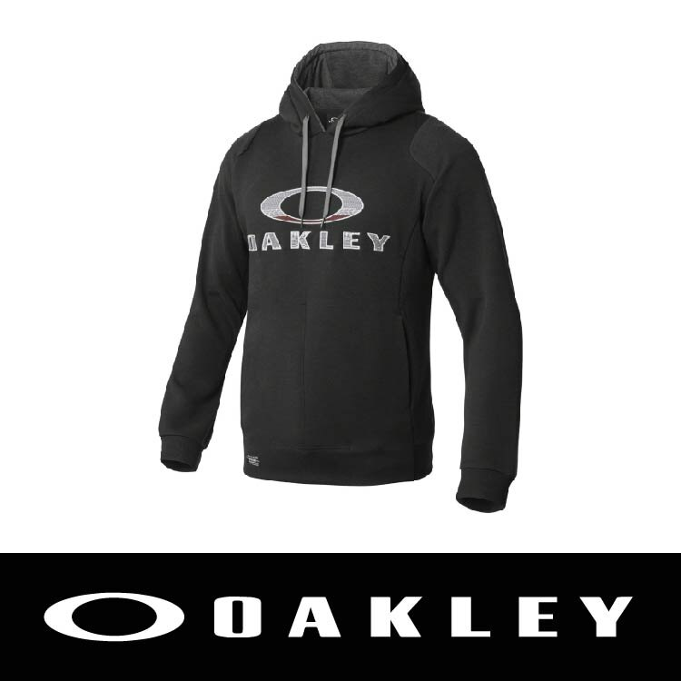 【新春滿額送後背包!只到2/28】OAKLEY FA16 ENHANCE TECHNICAL FLEECE HOODY.QD 男長袖帽T 吸汗快乾 黑色 OAK-461493JP-01K 萬特戶外運動