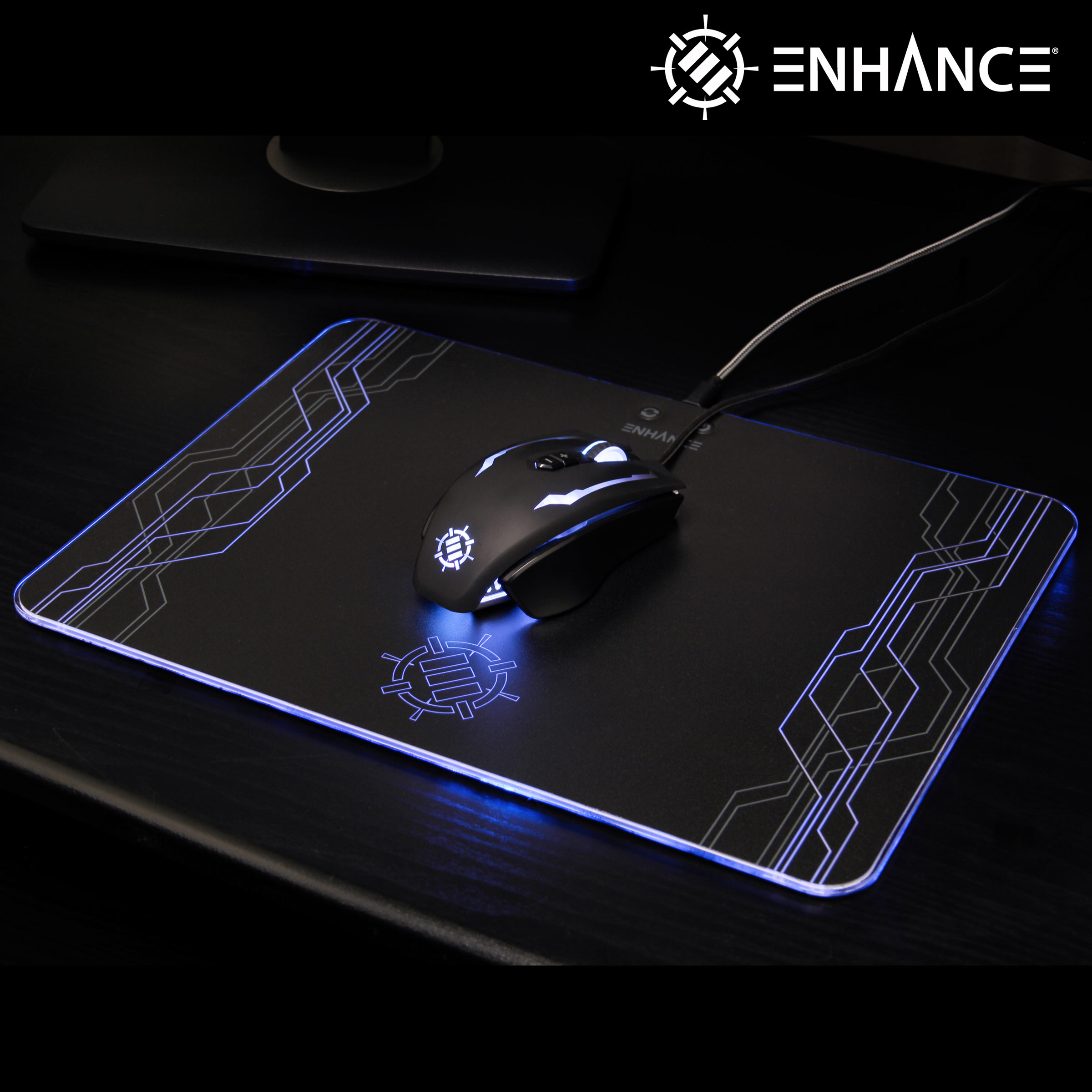 ENHANCE SCORIA Pro Gaming Mouse - RGB LED , 7 Programmable Buttons , 14400 DPI & Metal Body 2
