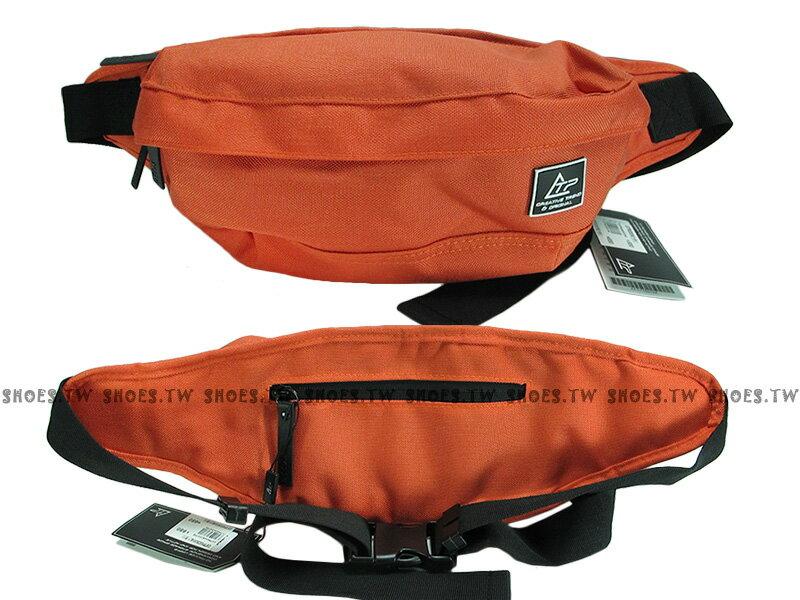 Shoestw【C5TP052835070】THE TOPPU 韓國品牌 腰包 側背包 斜背包 隨身包 帆布材質 男女都可用 橘色 - 限時優惠好康折扣