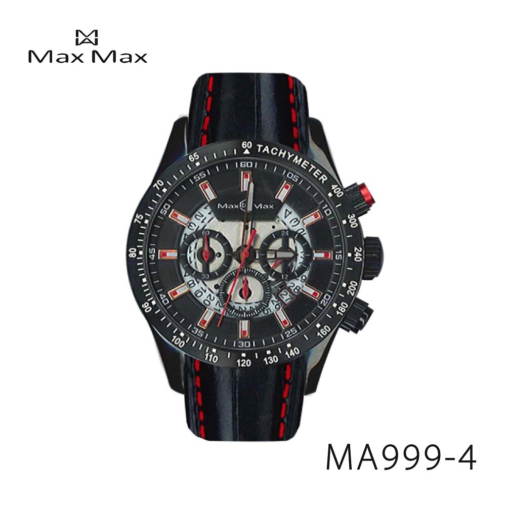 【完全計時】手錶館│MaxMax 原廠公司貨 三眼計時運動腕錶MAX999-4