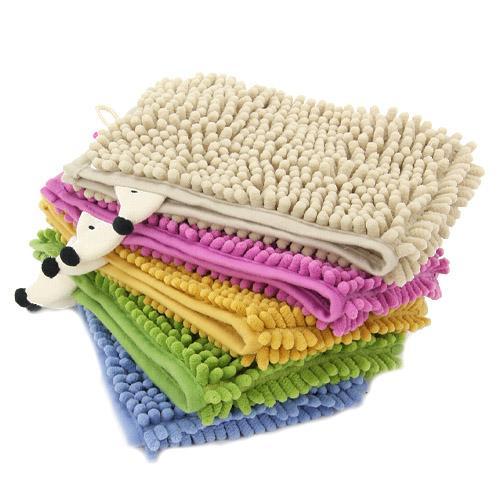 【百倉日本舖】日本進口 S.D.S.超吸水 速乾 刺蝟造型雪尼爾擦手巾/吸水巾