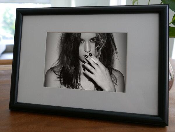 聚鯨Cetacea﹡Art【KLFZ-1563】smoking抽菸fashion時尚profile側影畫框相框