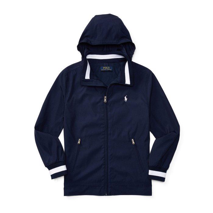 美國百分百【全新真品】Ralph Lauren 小馬 RL 連帽 外套 騎士 夾克 風衣 POLO 深藍 S號 美國青年版 H875