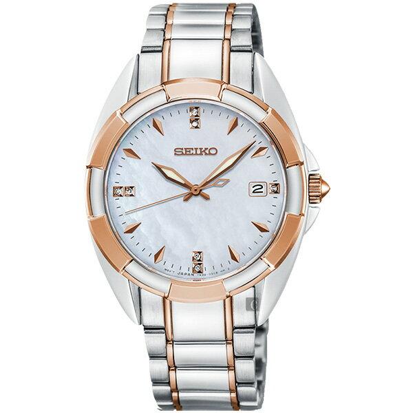 Seiko精工錶7N32-0DV0KS(SKK888P1)網美時尚CS系列晶鑽腕錶玫瑰金雙色*珍珠貝33mm