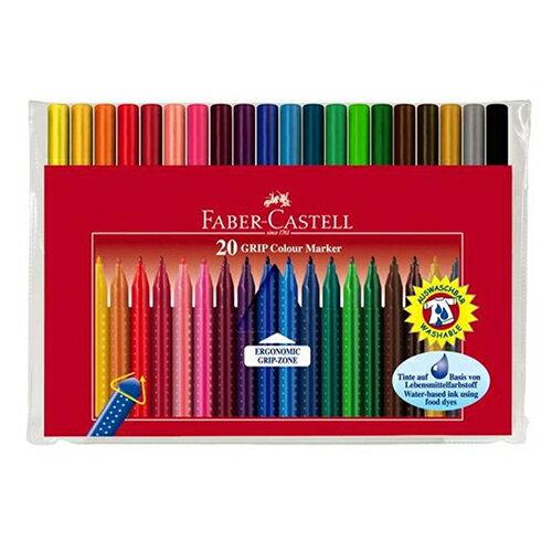 《 Faber - Castell 輝柏 》握得住抗壓三角筆桿彩色筆 20 色